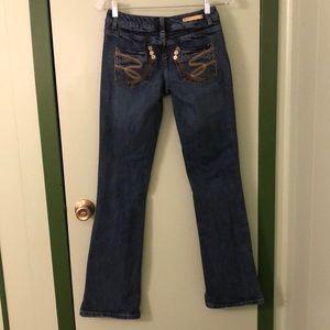 Seven7 Blue Denim Boot Cut Jeans sz 25